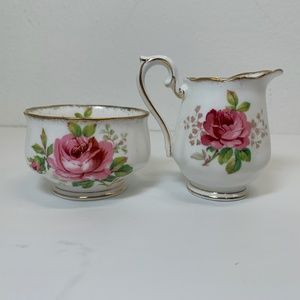 Royal Albert American Beauty Sugar & Creamer